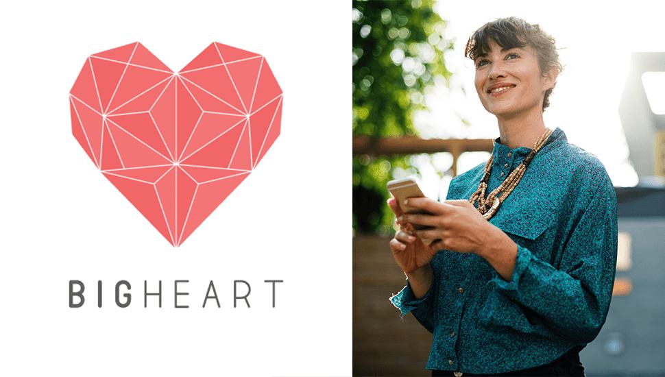 Nya appen BIGHEART - titta på reklam och bidra till välgörenhet