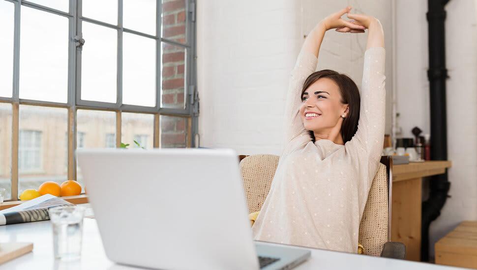 5 enkla övningar du kan göra vid skrivbordet