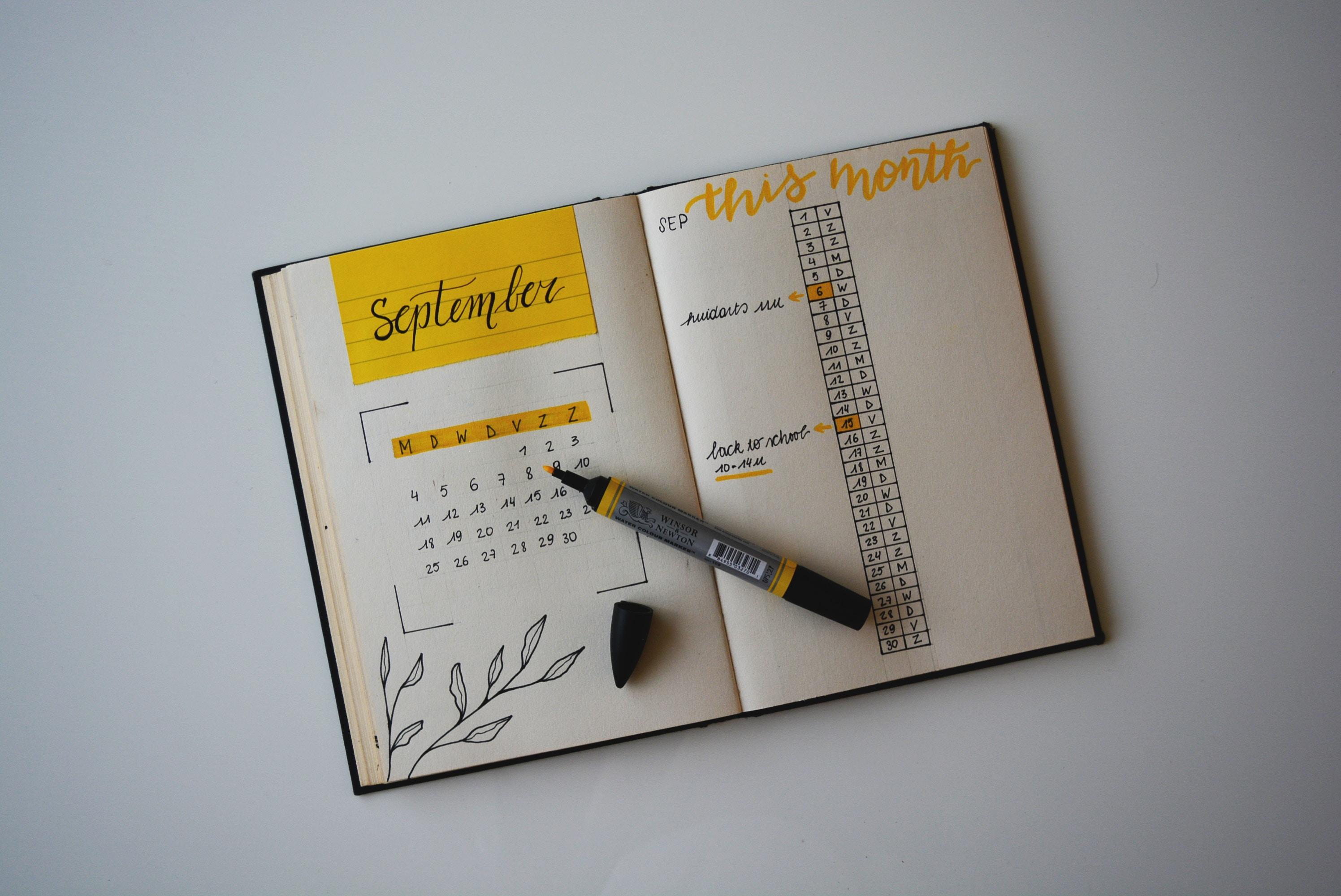 bullet journal uppnå mål