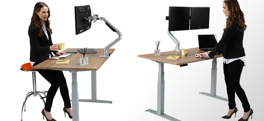 Sit at Desk and Stand at Desk