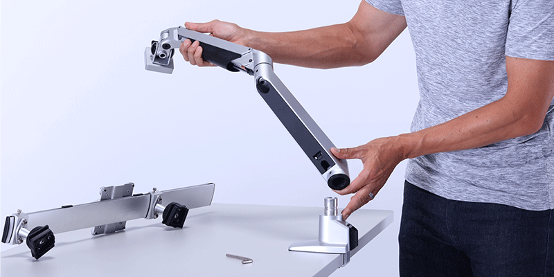 Monitor Arms for SmartMoves Adjustable Height Desk