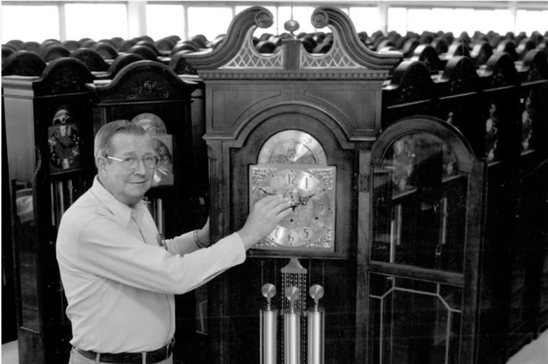 Howard Miller Floor Clocks Black and White