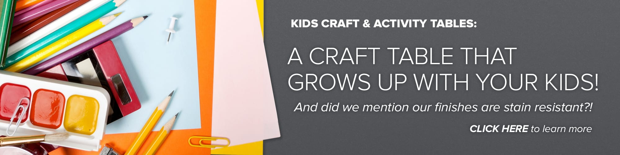 Kids Craft and Activity Table Banner