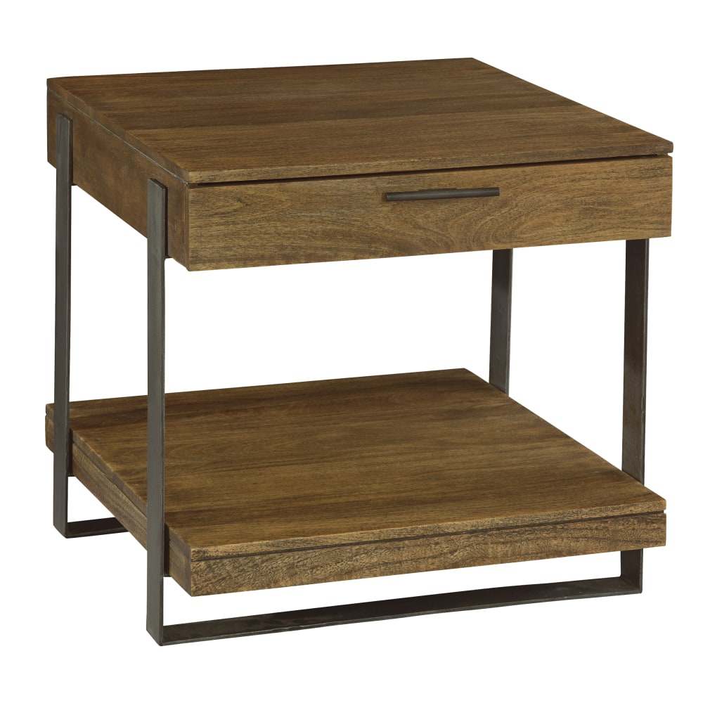 Image for 2-3705 Bedford Park Iron Strapping Lamp Table with Drawer from Hekman Official Website