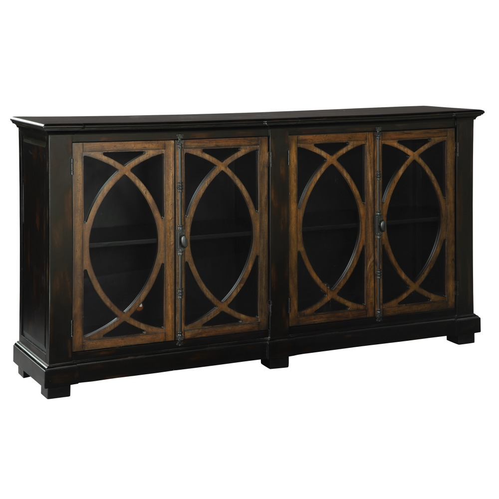 Image for 2-8026 Four Door Circle Lattice Entertainment Center from Hekman Official Website