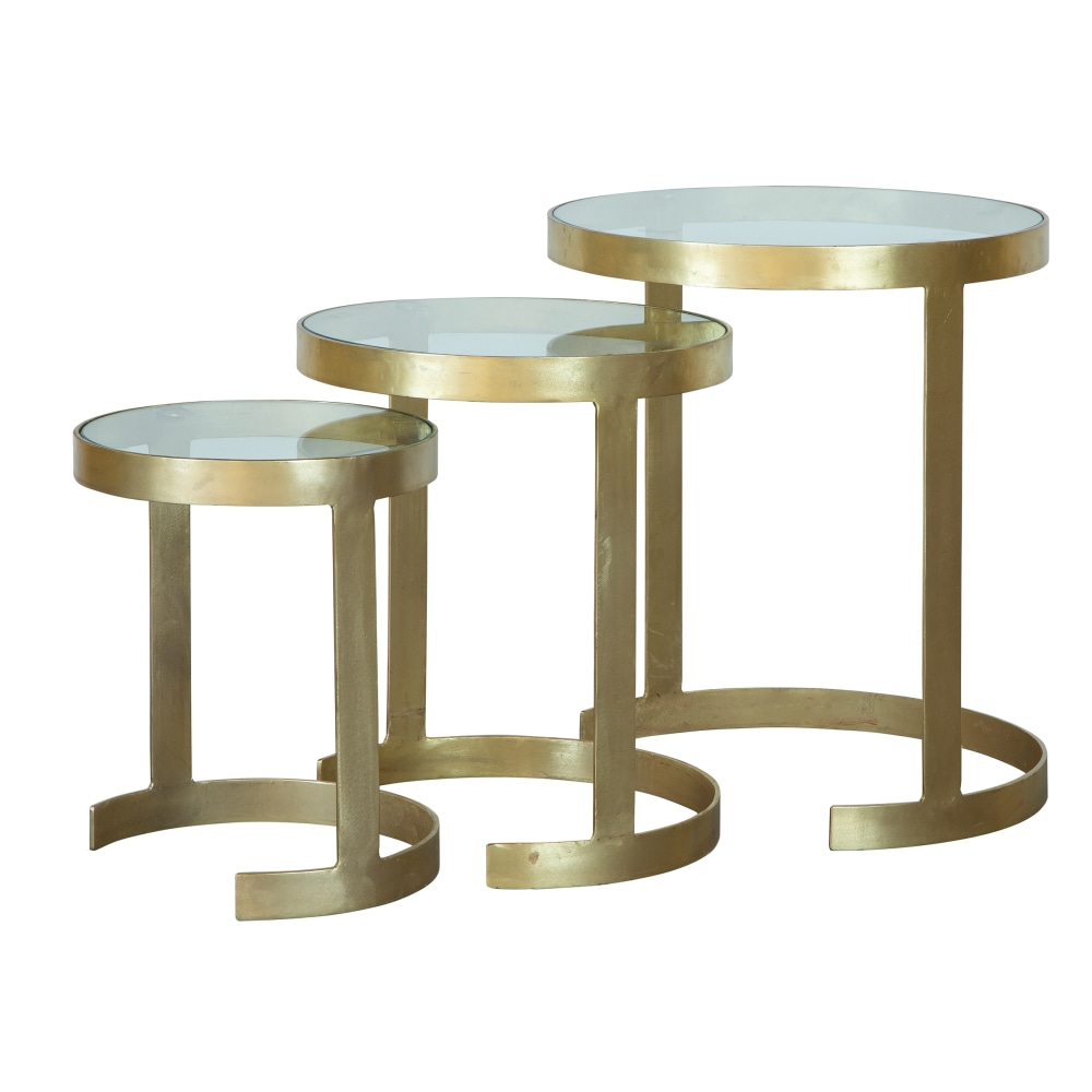 Image for 2-8304 Brass Nest of Tables from Hekman Official Website