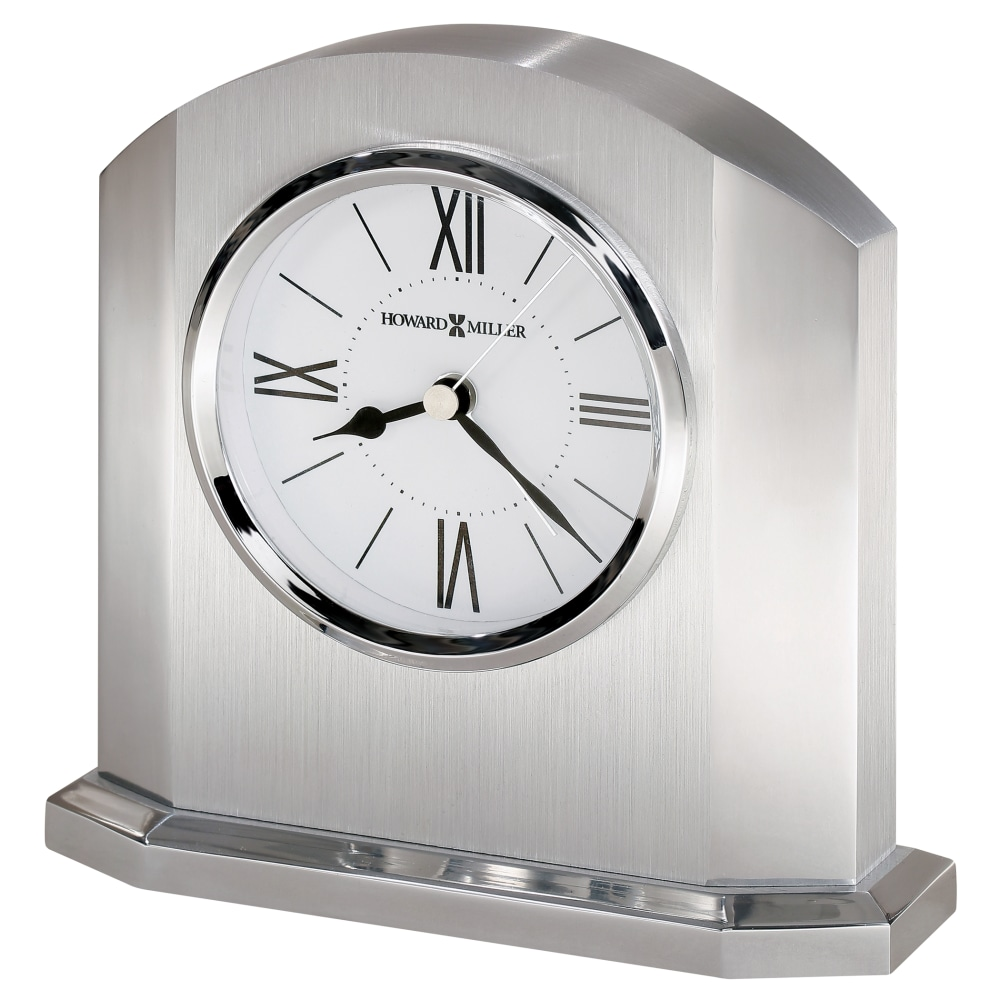 Image for Howard Miller Lincoln Silver Alarm Clock 645753 from Howard Miller Official Website