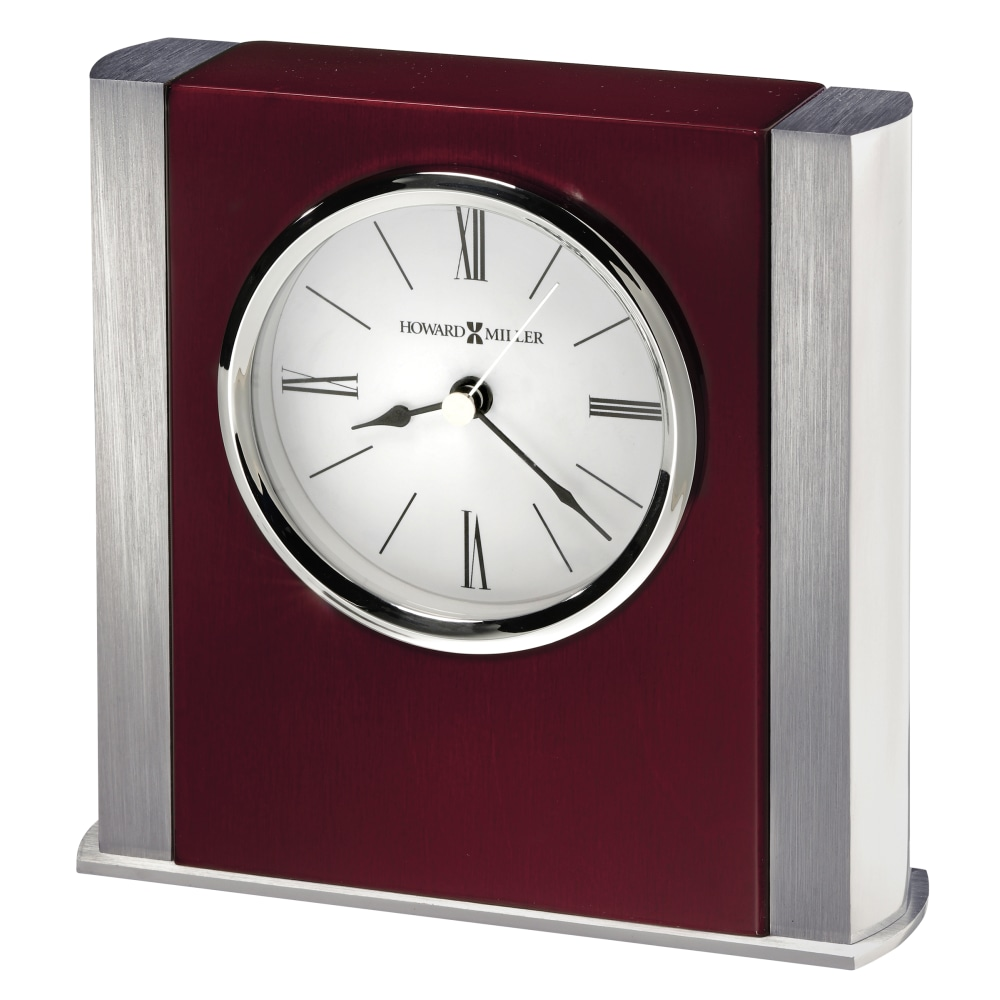 Image for Howard Miller Manheim Silver Table Clock 645798 from Howard Miller Official Website