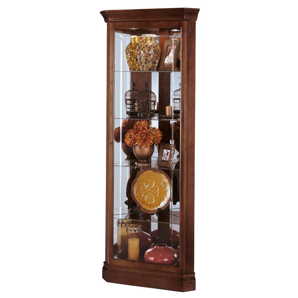 Image for Howard Miller Lynwood Corner Curio Cabinet 680345 from Howard Miller Official Website