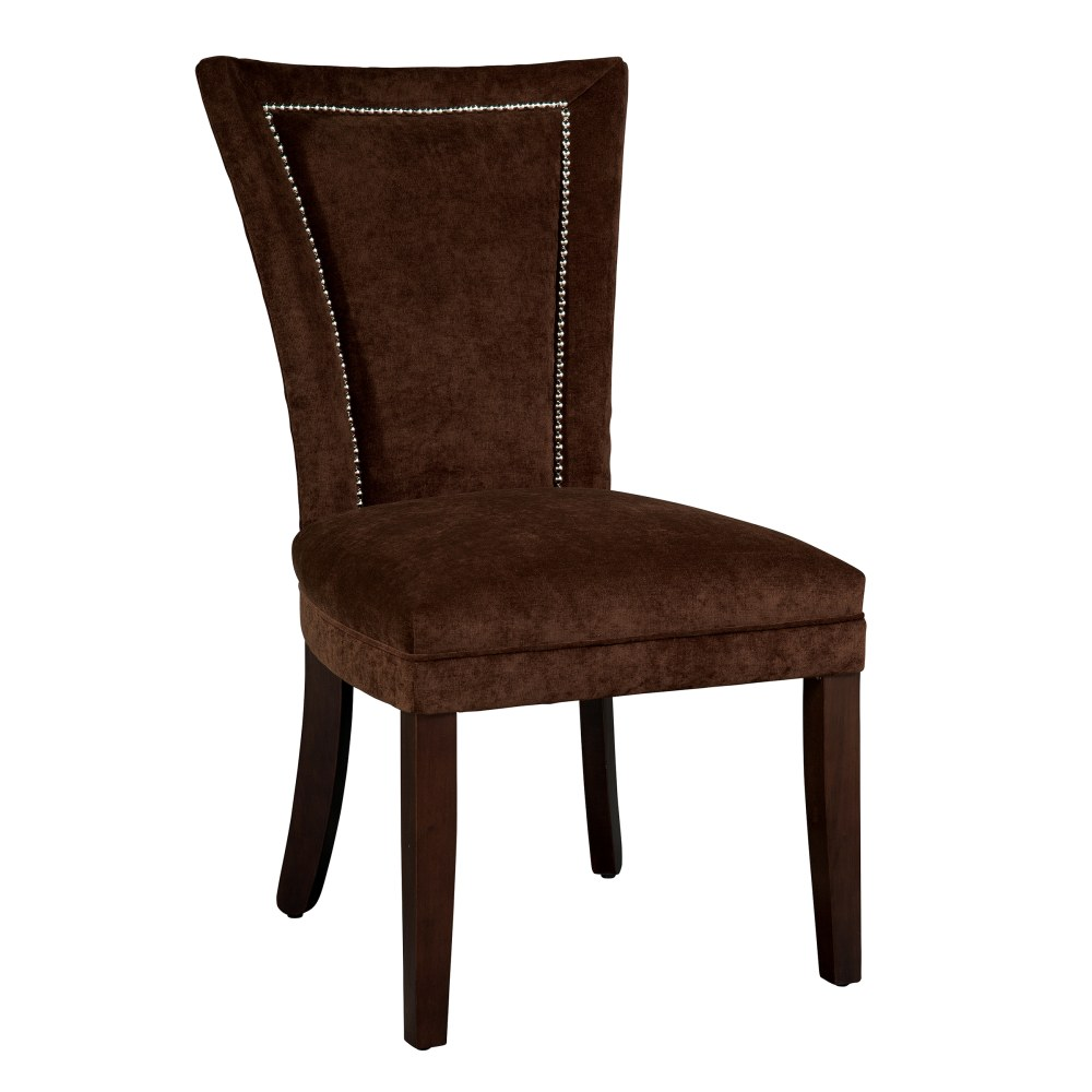 Image for 7257 Jeanette Dining Chair with Nailheads & Caster Front Legs from Hekman Official Website