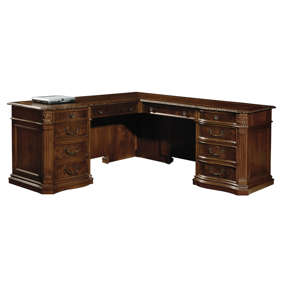 Image for 7-9167 Old World Walnut Executive L-Desk from Hekman Official Website