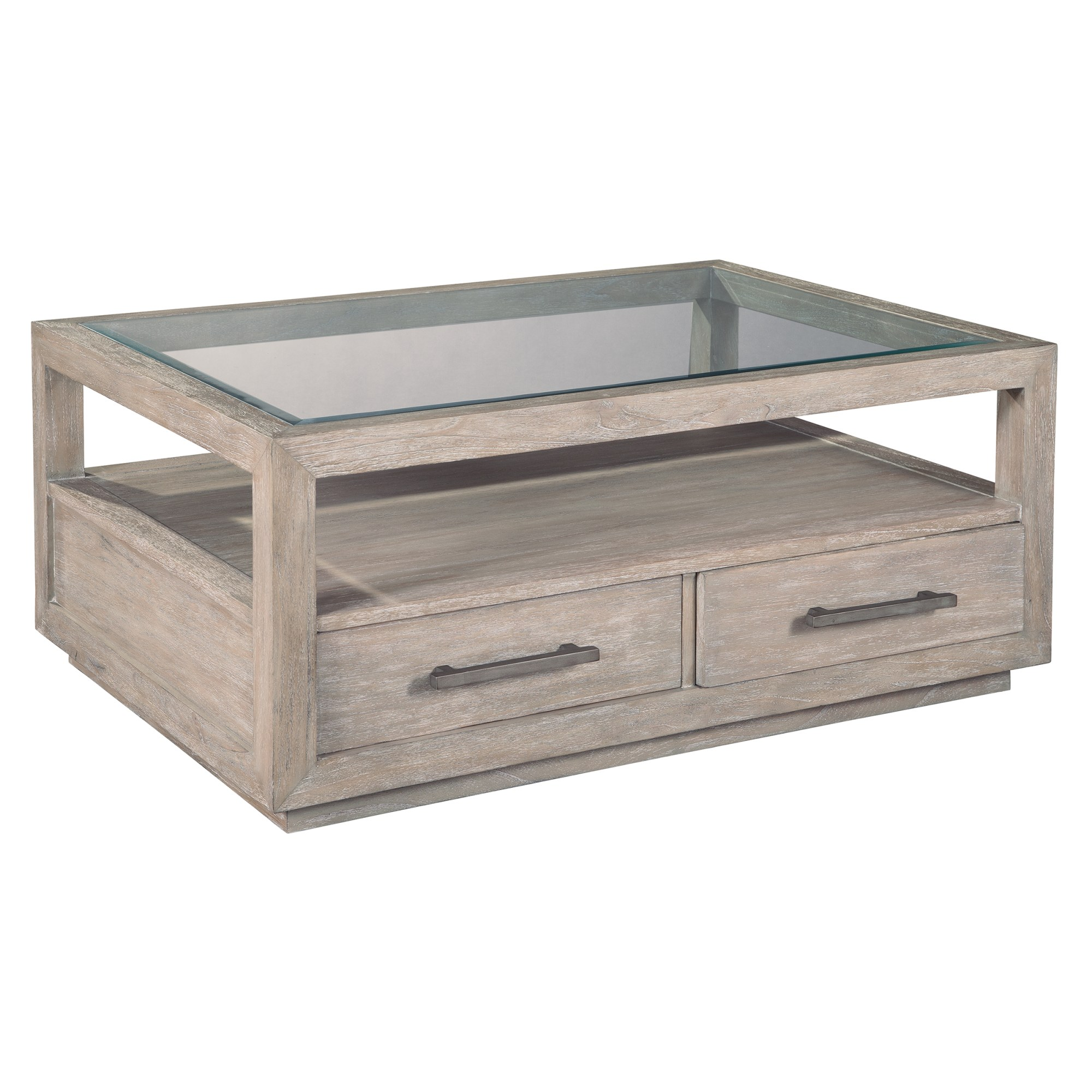 Image for 1-7101 Berkeley Heights Rectangular Glass Top Coffee Table from Hekman Official Website