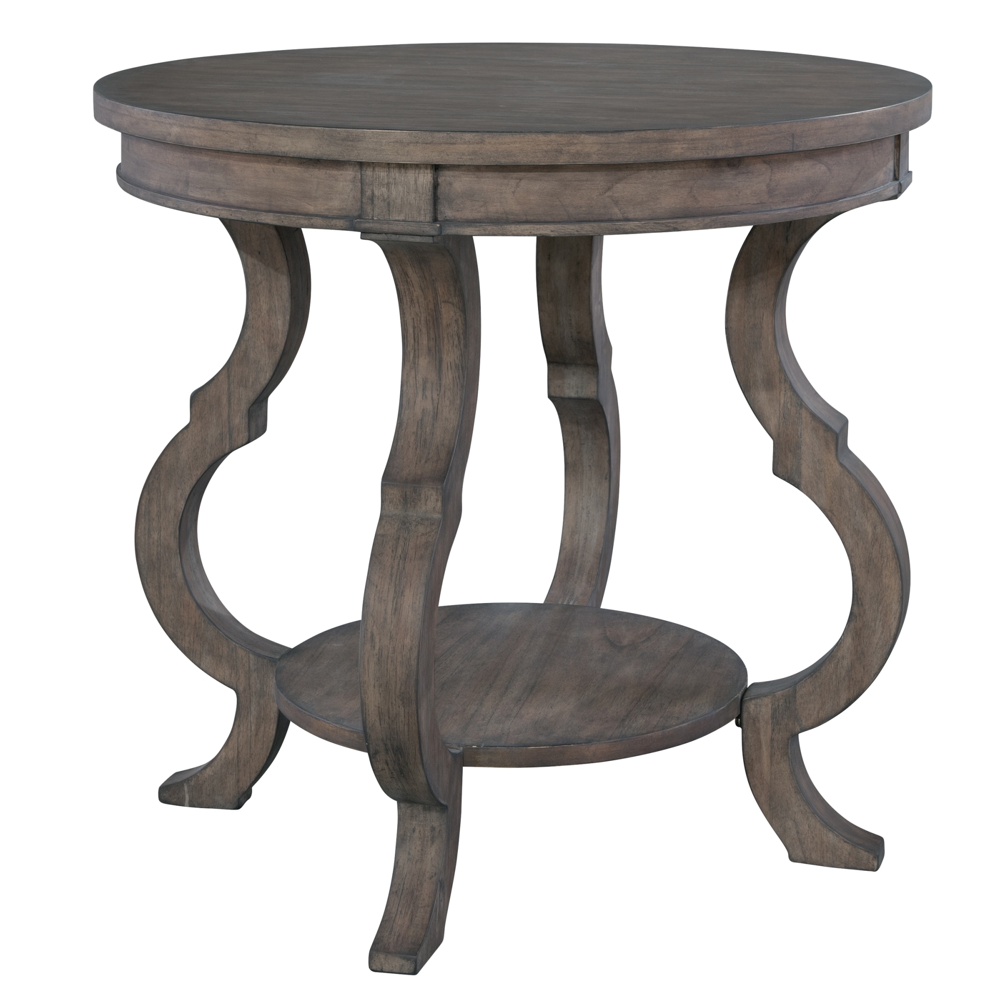 Image for 2-3506 Lincoln Park Round Lamp Table with Shaped Legs from Hekman Official Website