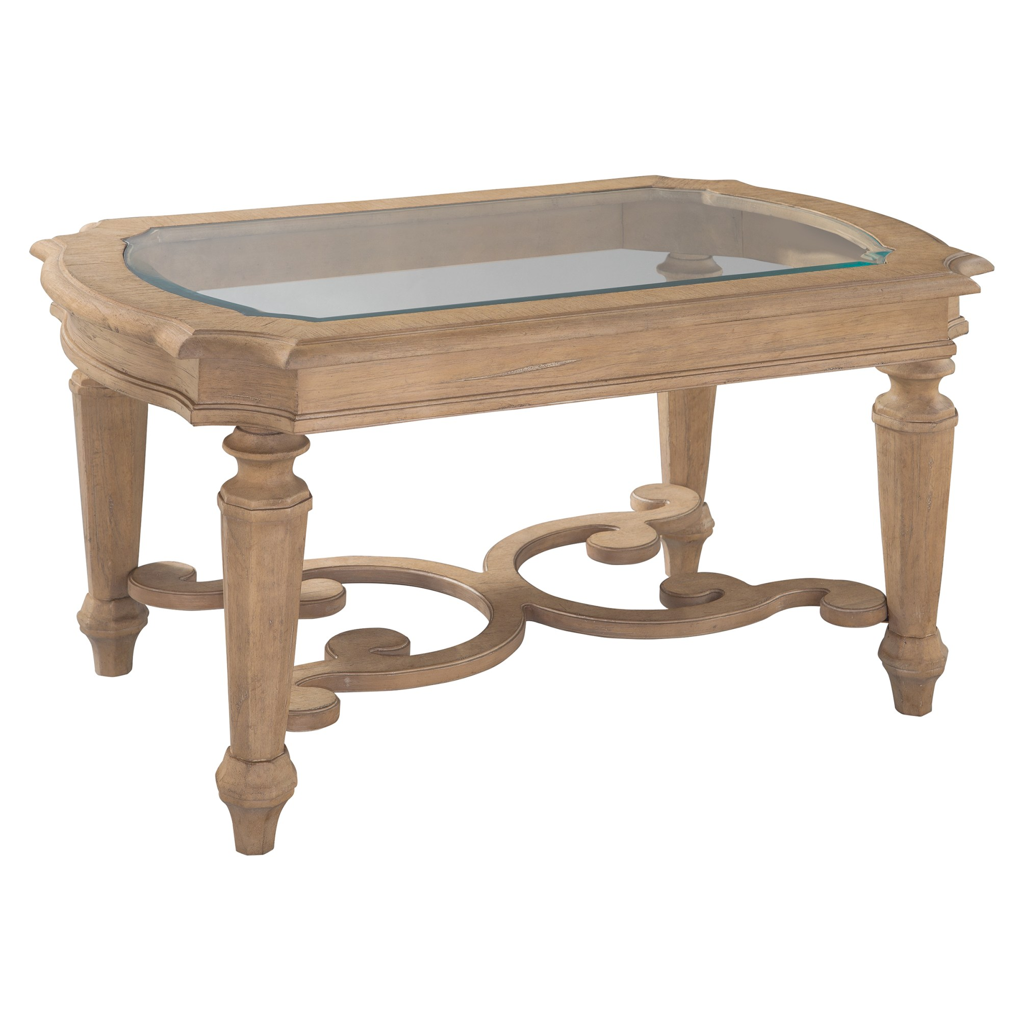Image for 2-3601 Grand Vista Rectangular Glass Top Coffee Table from Hekman Official Website