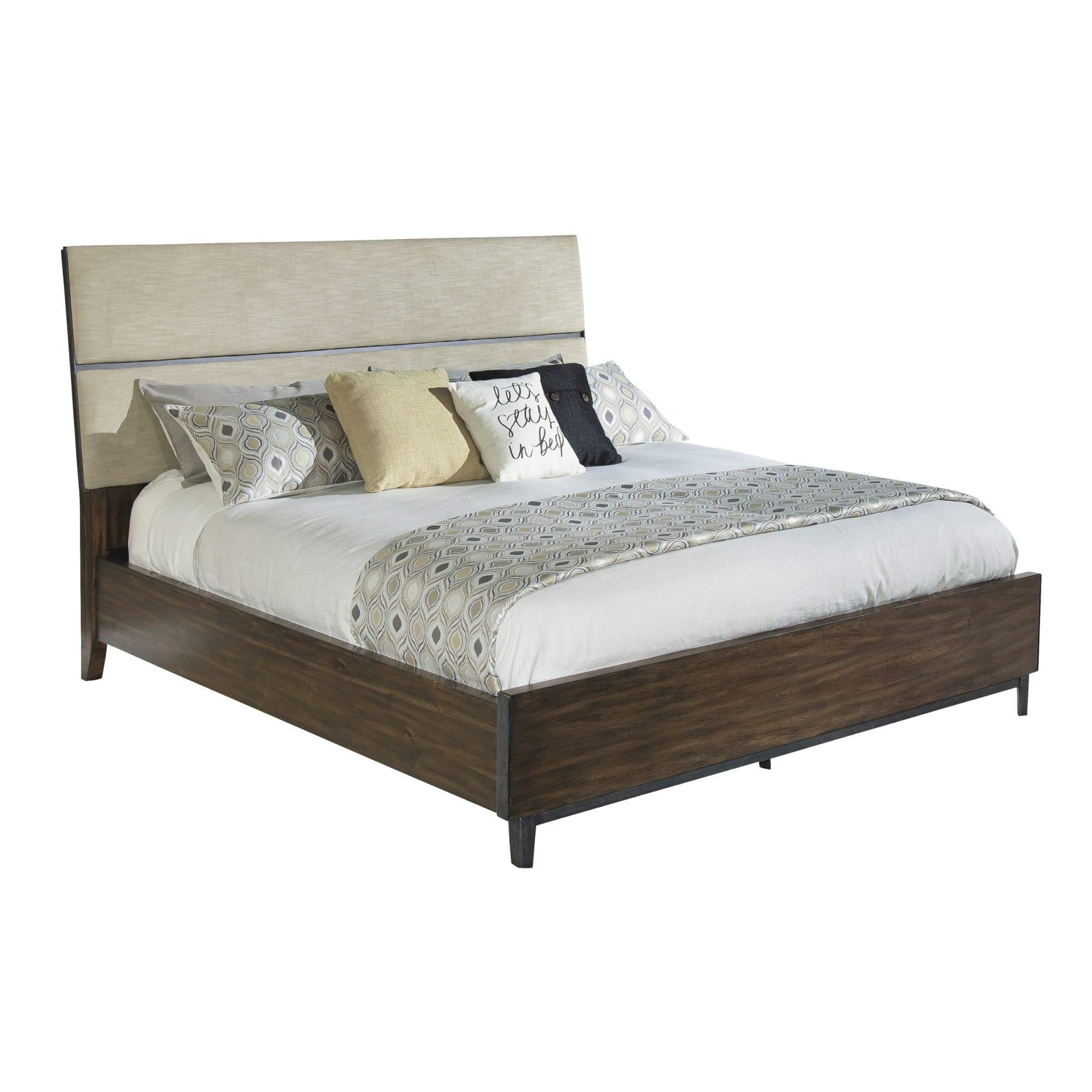 Image for 2-4367 Monterey Point Queen Upholstered Planked Panel Bed from Hekman Official Website