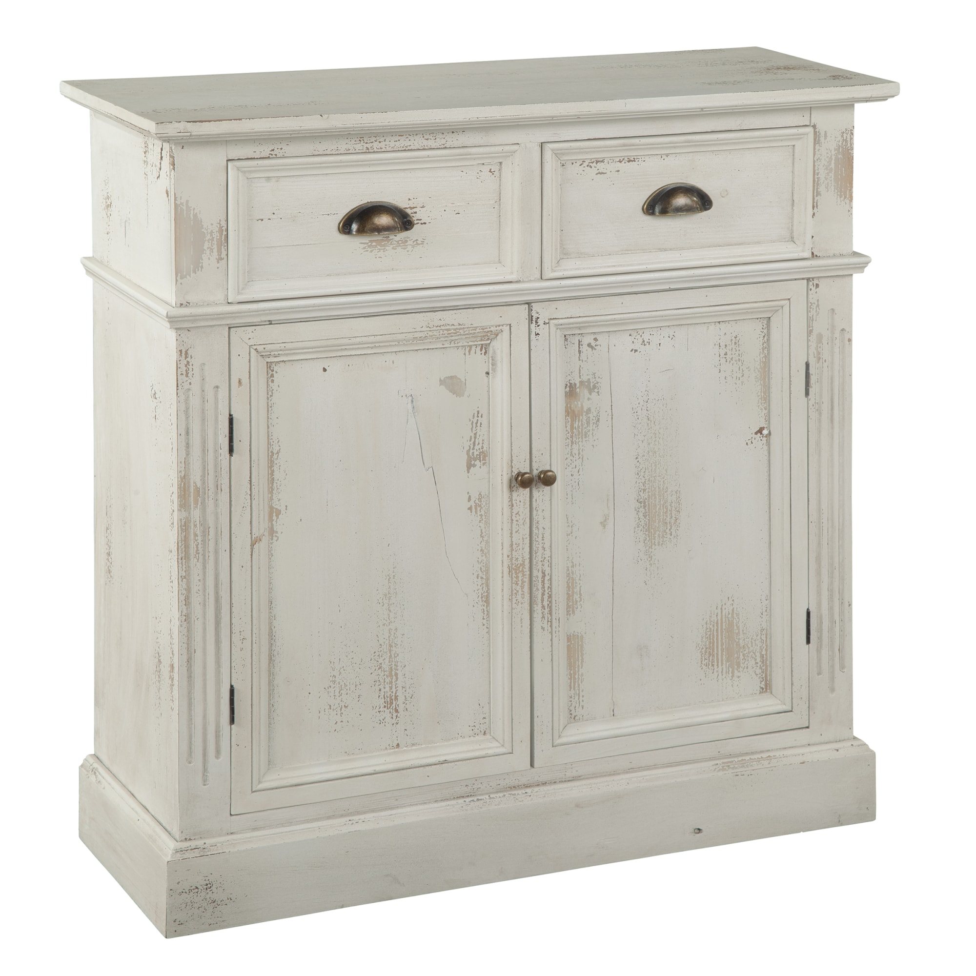 Image for 2-7787 Marketplace Rustic White Door & Drawer Cabinet from Hekman Official Website