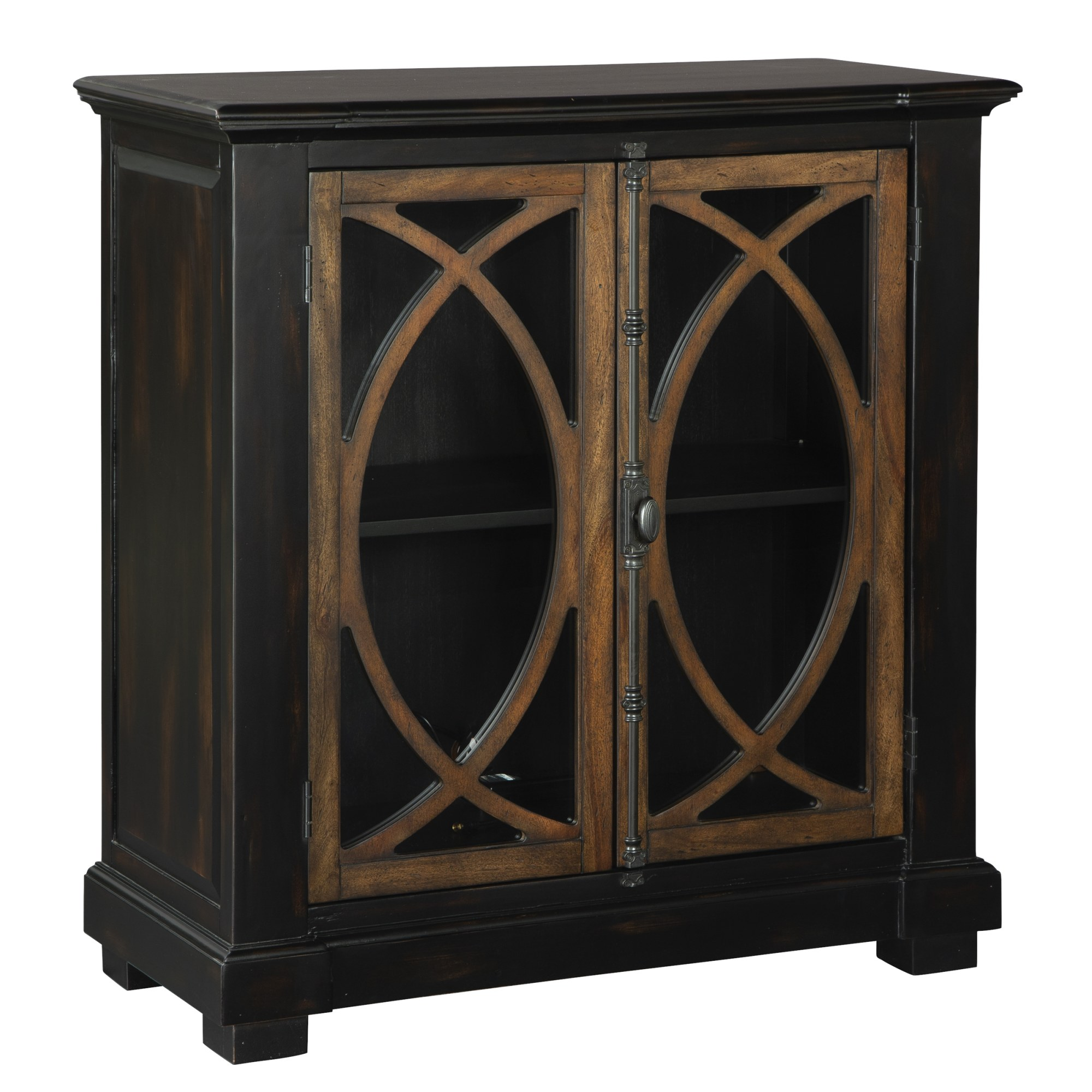 Image for 2-8027 Two Door Circle Lattice Entertainment Center from Hekman Official Website