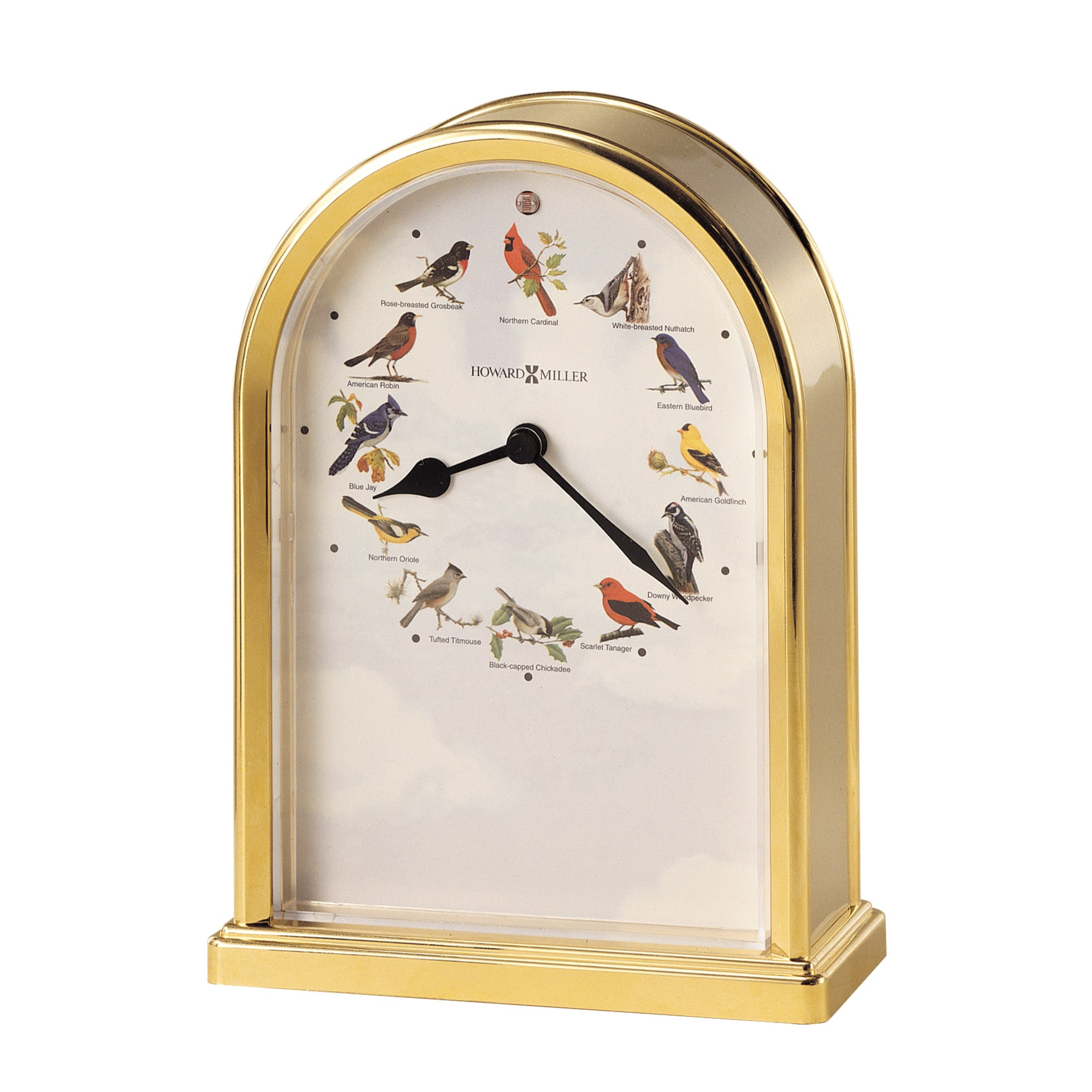 Image for Howard Miller Songbirds of North America III Brass Table Clock 645405 from Howard Miller Official Website