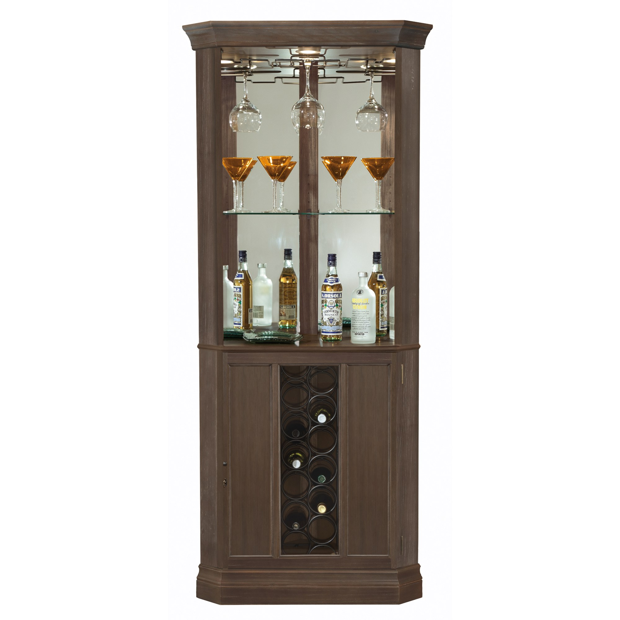 Image for 690-045 Piedmont IV Corner Wine & Bar Cabinet from Howard Miller Official Website