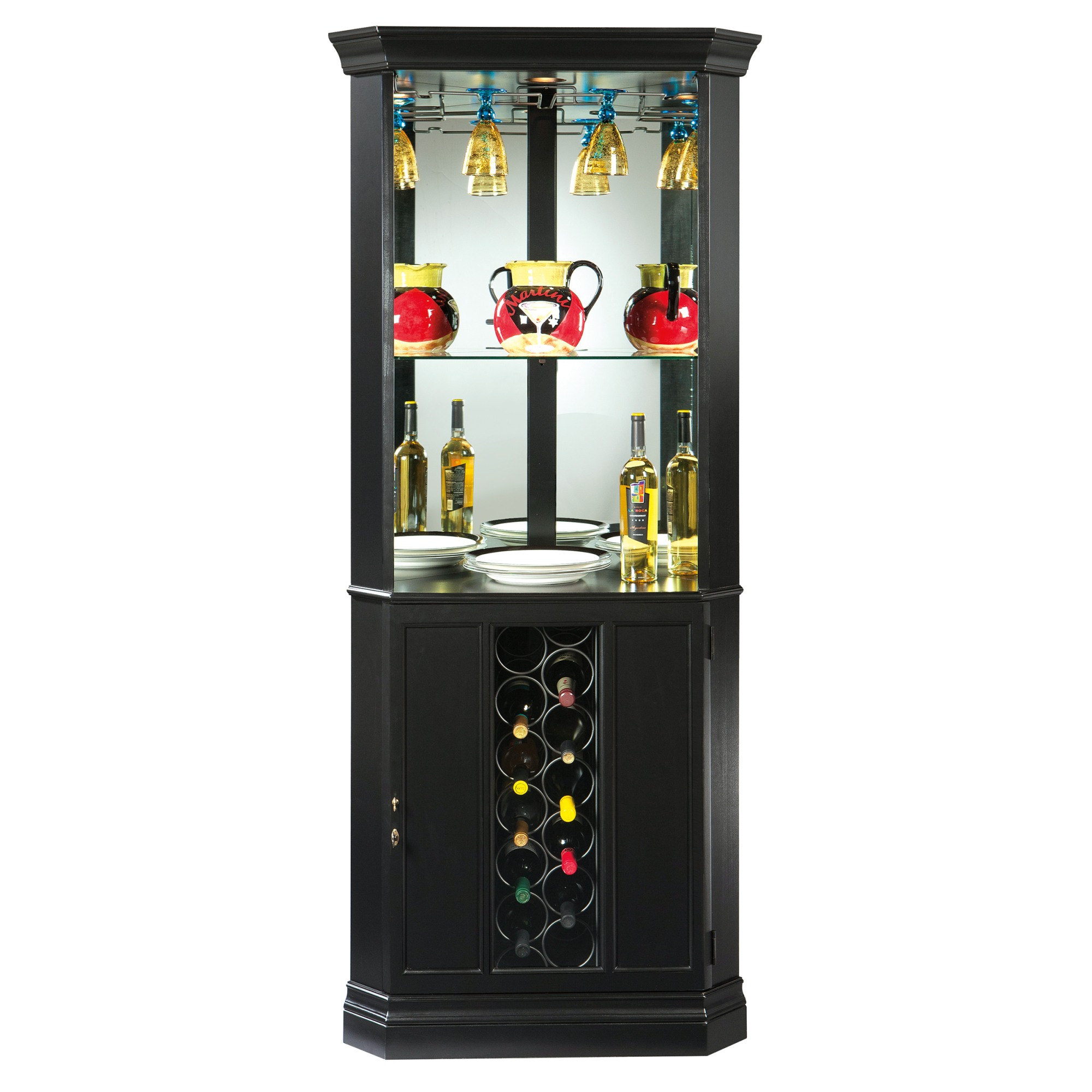Image for 690-048 Piedmont VII Corner Wine & Bar Cabinet from Howard Miller Official Website