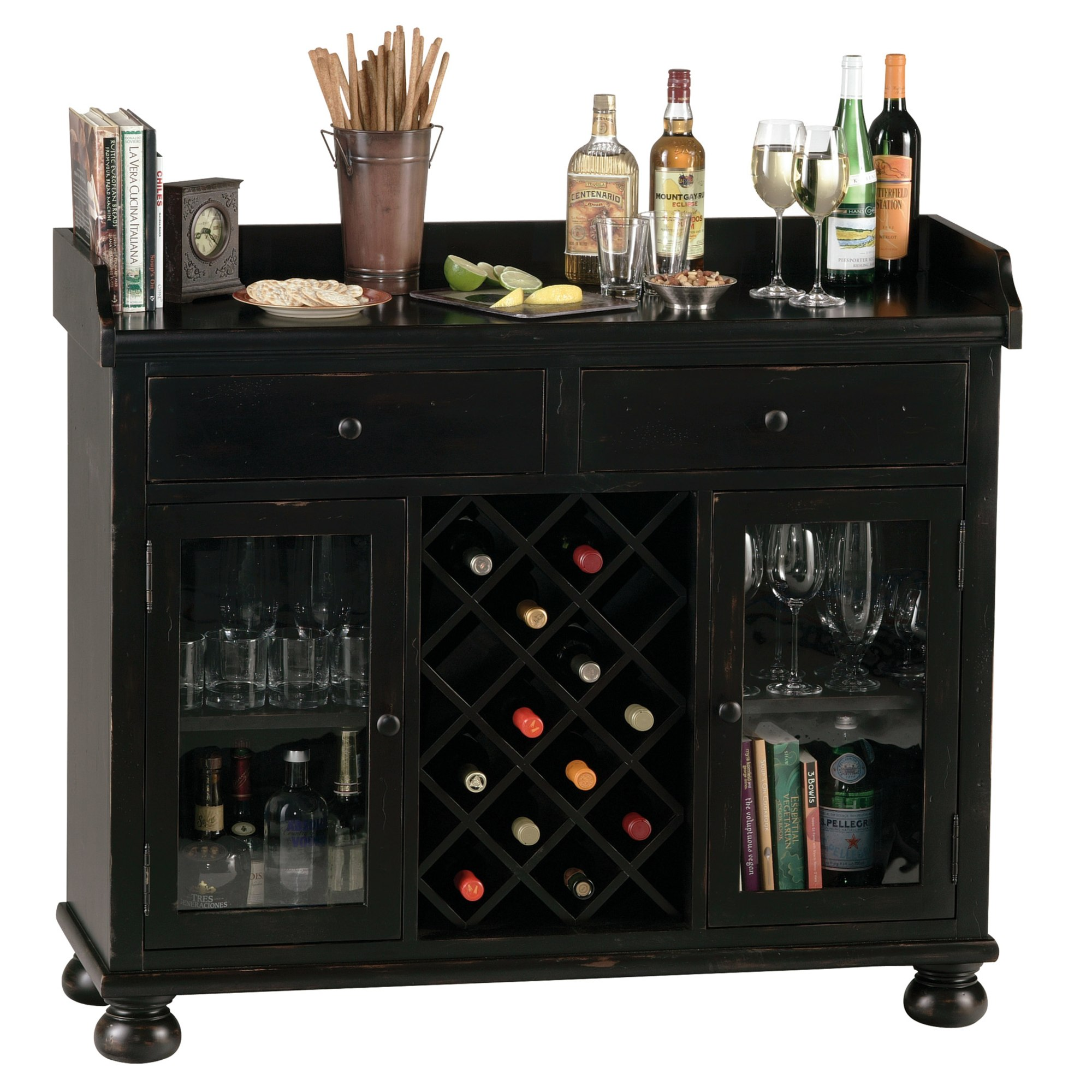 Image for 695-002 Cabernet Hills Wine & Bar Console from Howard Miller Official Website