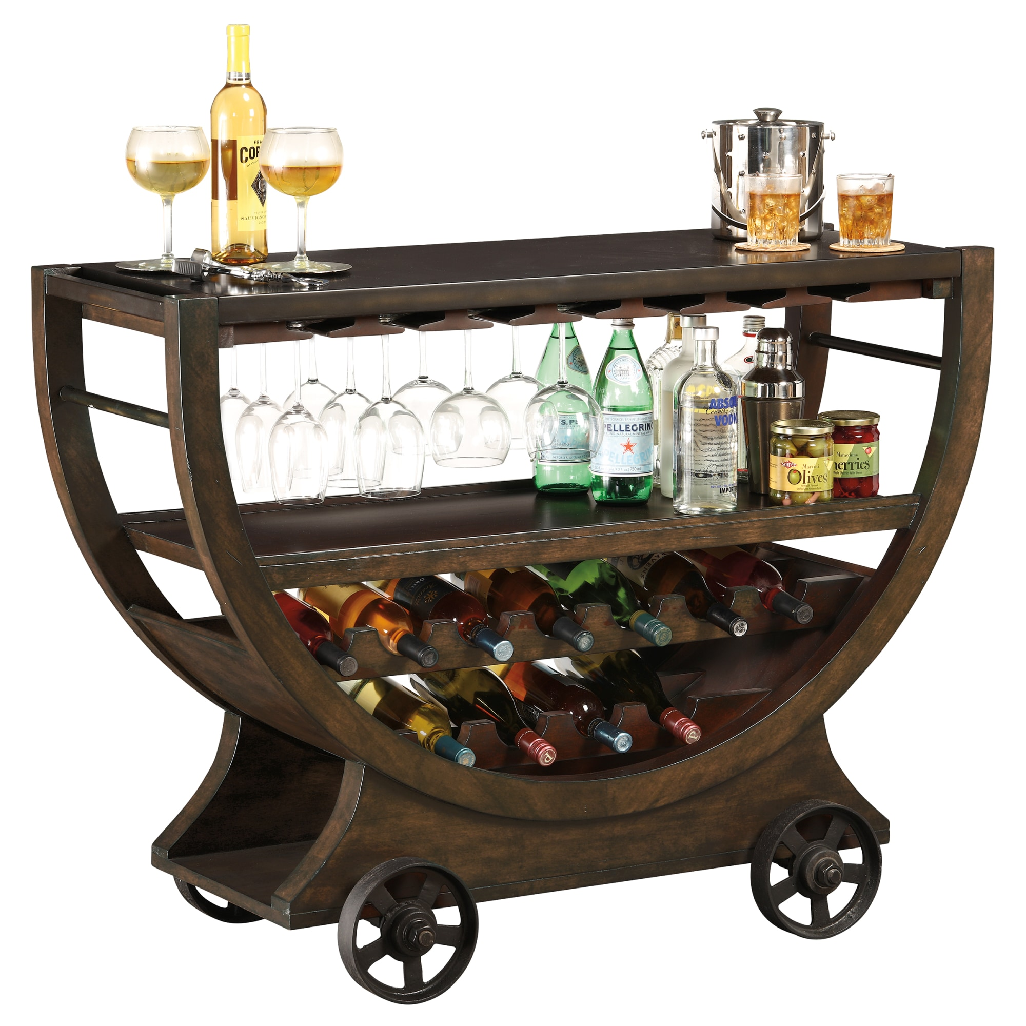Image for 695-184 Happy Hour Wine & Bar Console from Howard Miller Official Website