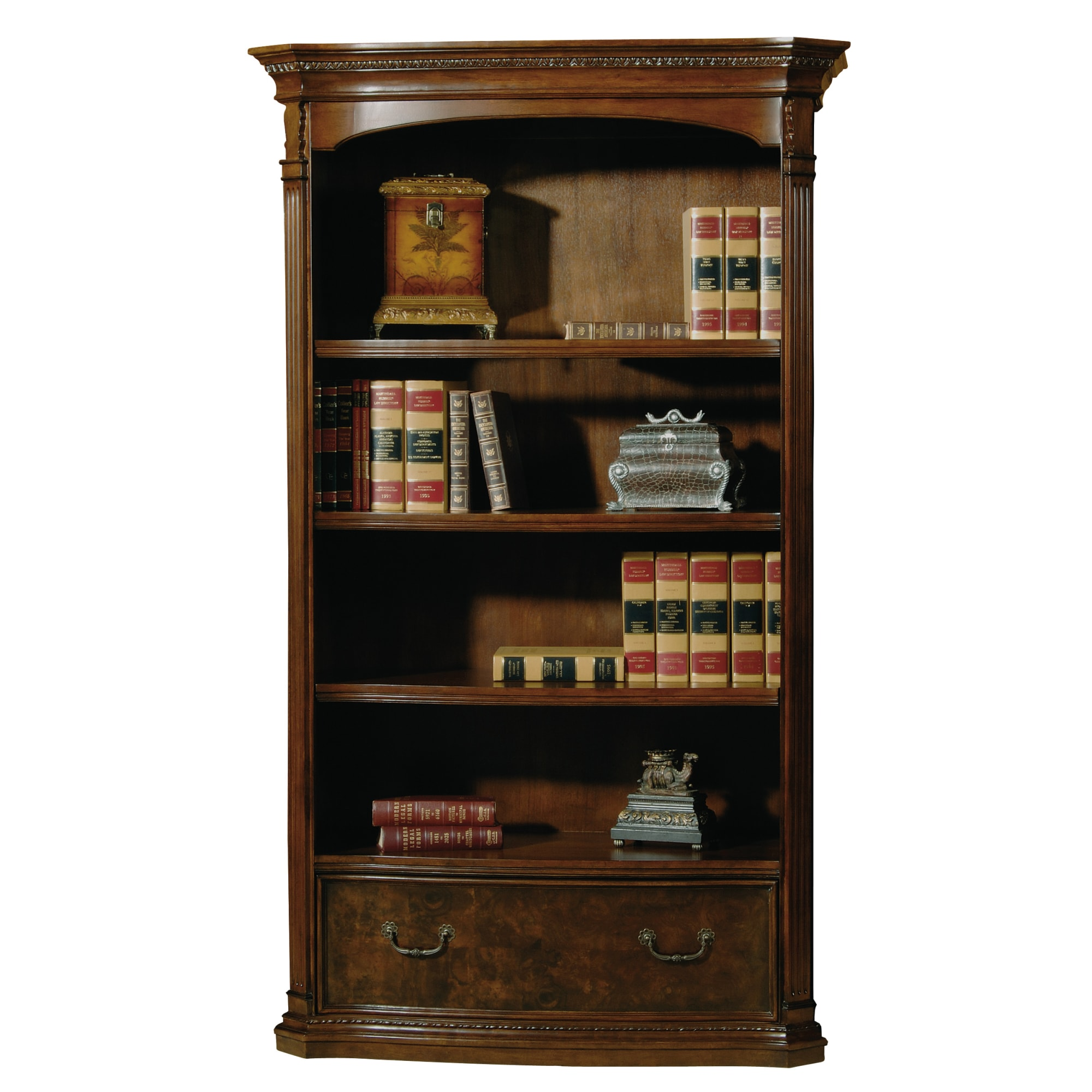 Image for 7-9164 office@home Old World Walnut Bookcase from Hekman Official Website