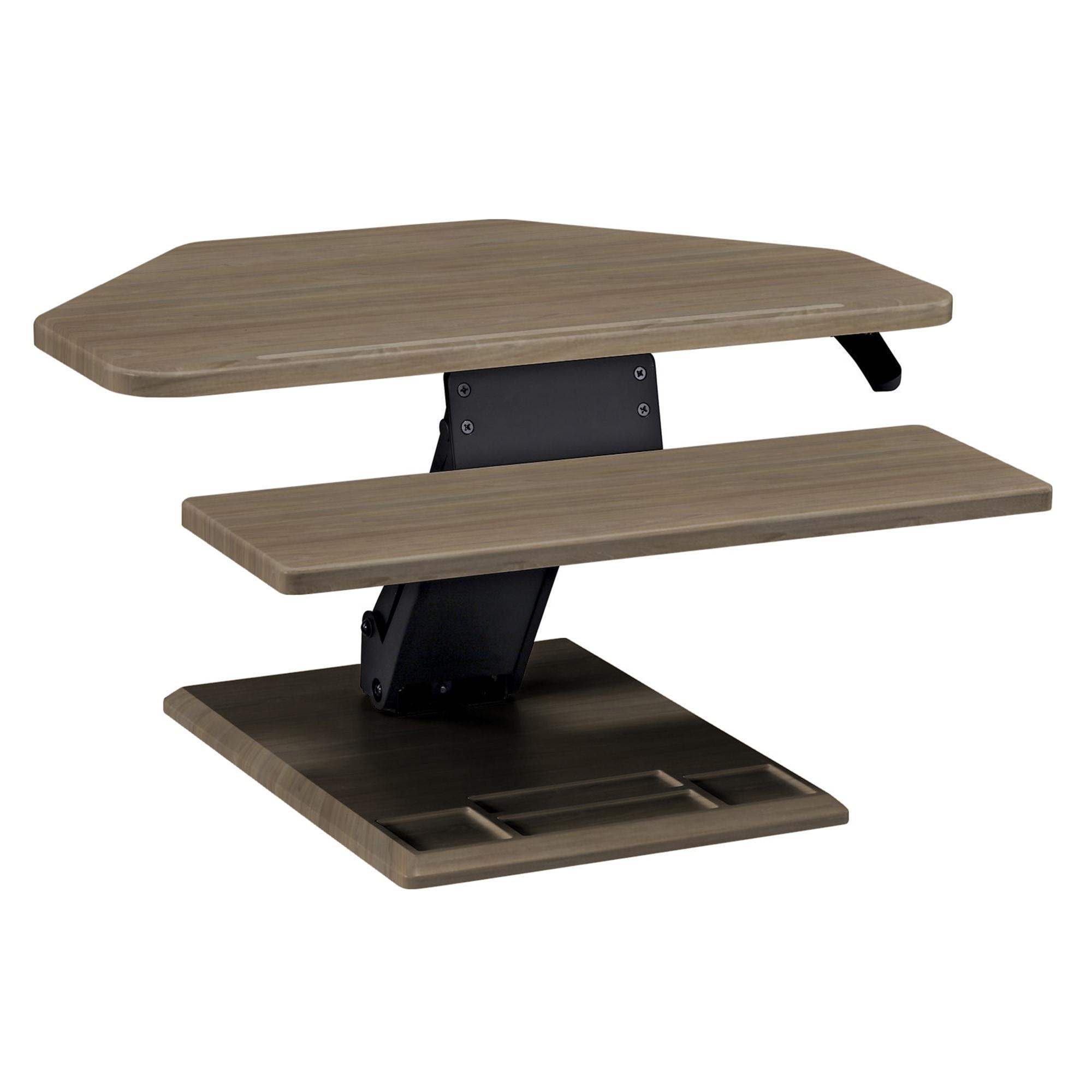SmartMoves Sit to Stand Desktop Converter - Single Cylinder - Corner