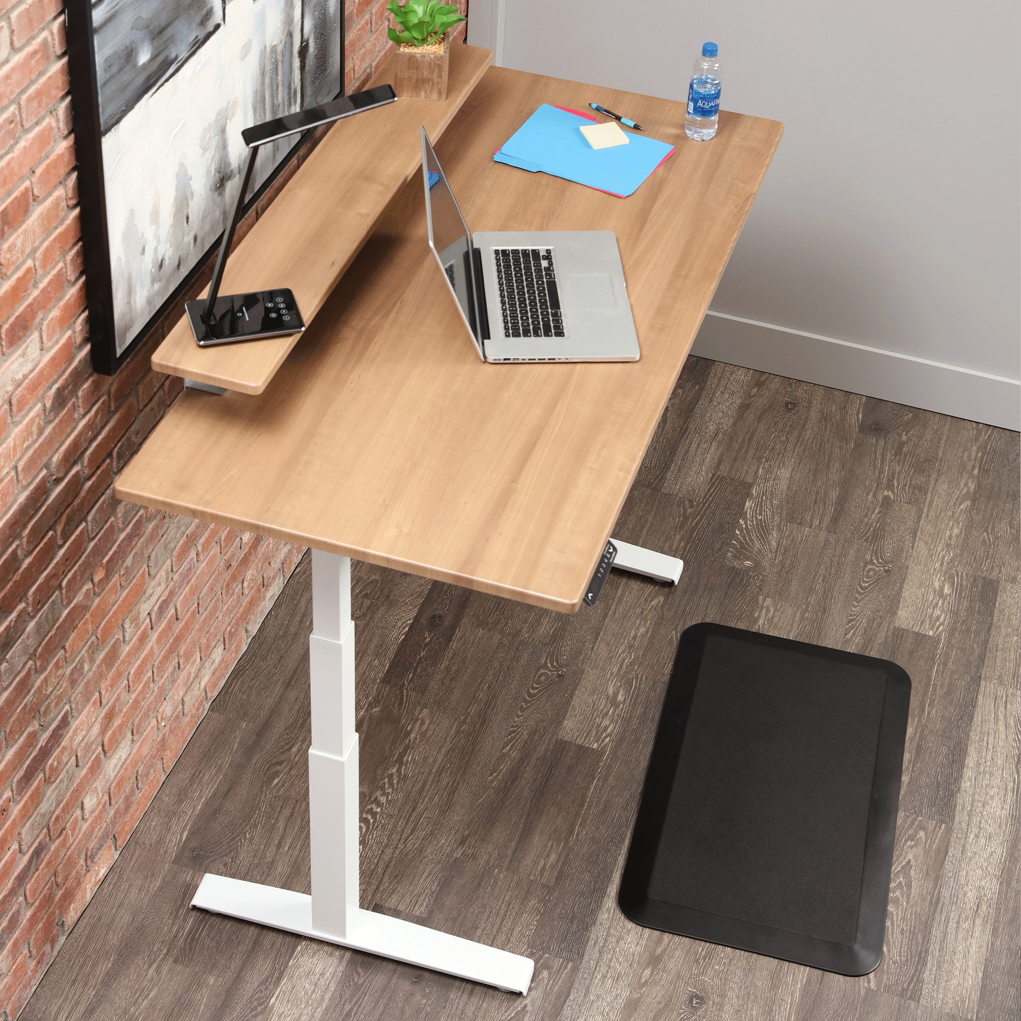 """Image for SmartMoves 60"""" Dual Electric Motor Adjustable Height Desk from Howard Miller Official Website"""