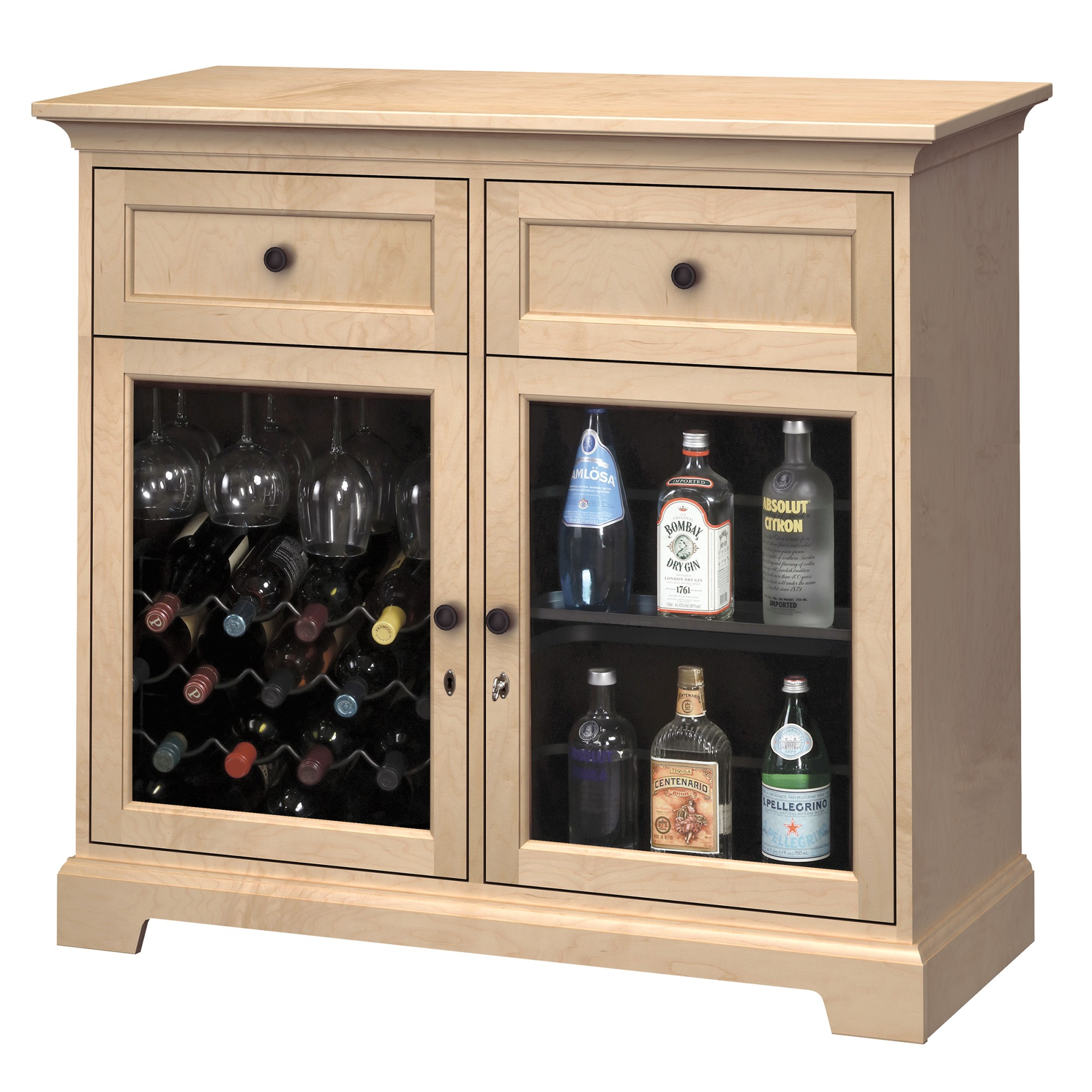Image for WS46D Wine & Bar Custom Console from Howard Miller Official Website