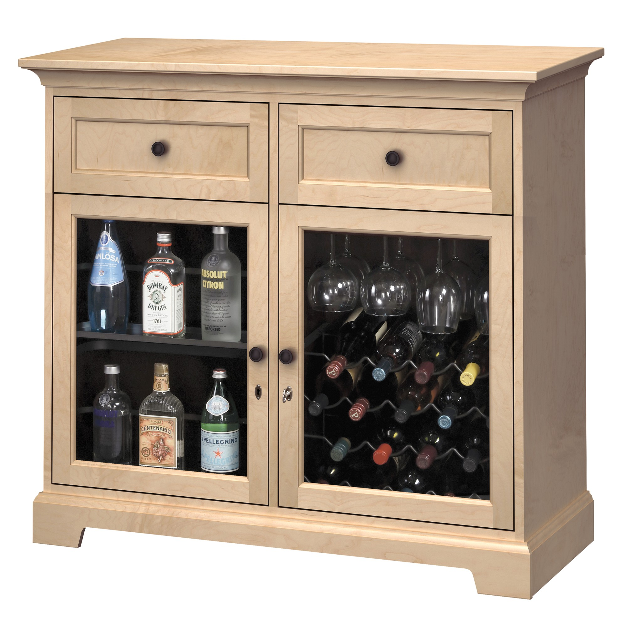 Image for WS46E Wine & Bar Custom Console from Howard Miller Official Website