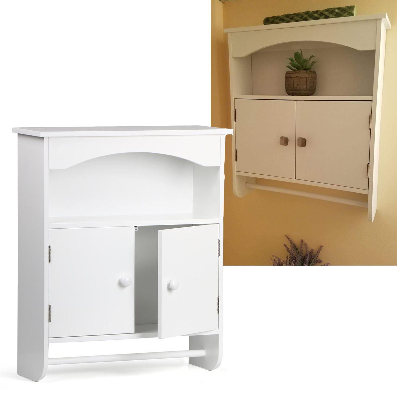 Wall Mount Bathroom Medicine Cabinet Storage Organizer Kitchen Shelf ...