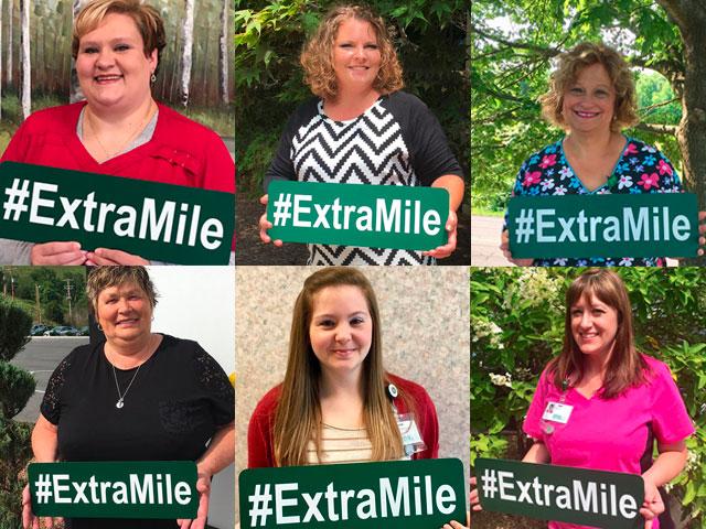 Extra Mile Winners