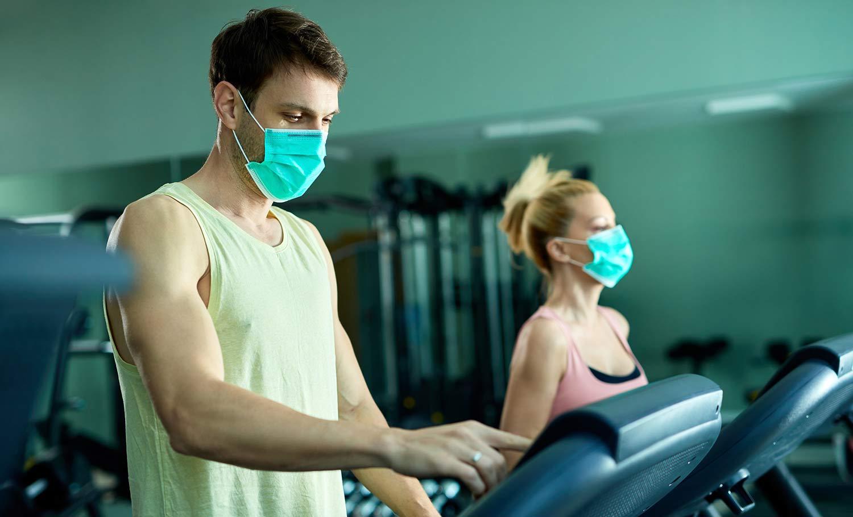 guy walking on treadmill