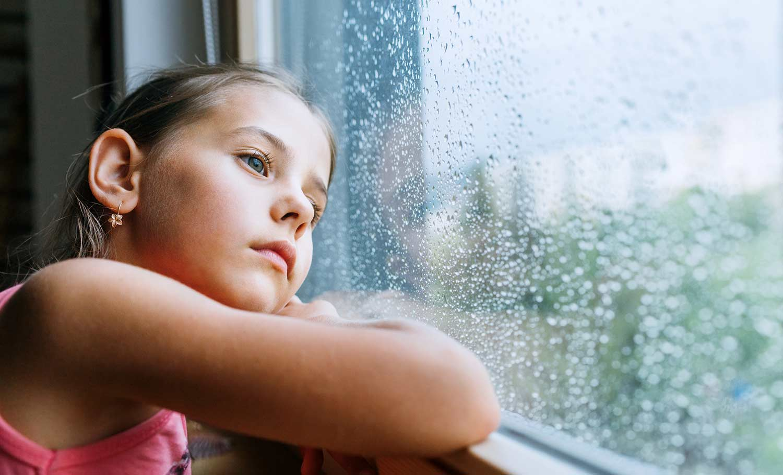 sad girl during COVID-19 lockdown