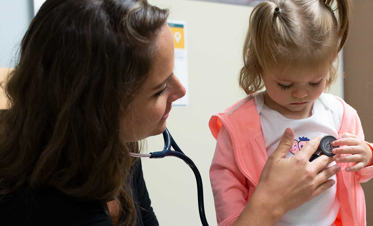 pediatrician and patient