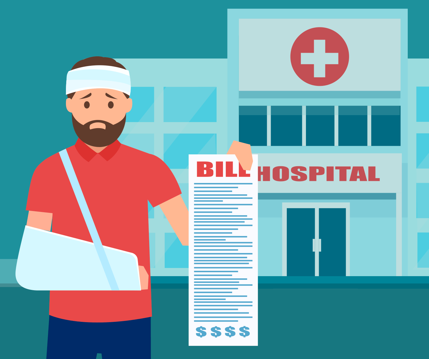 man with large hospital bill