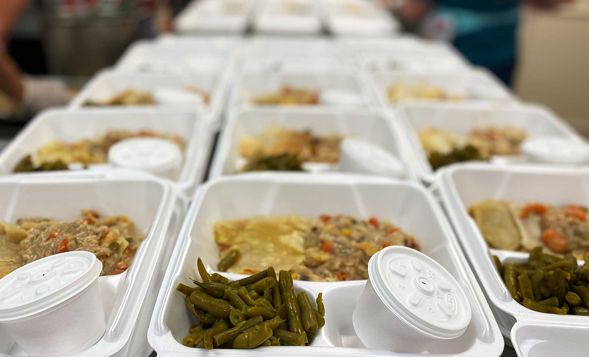 prepared meals ready for delivery