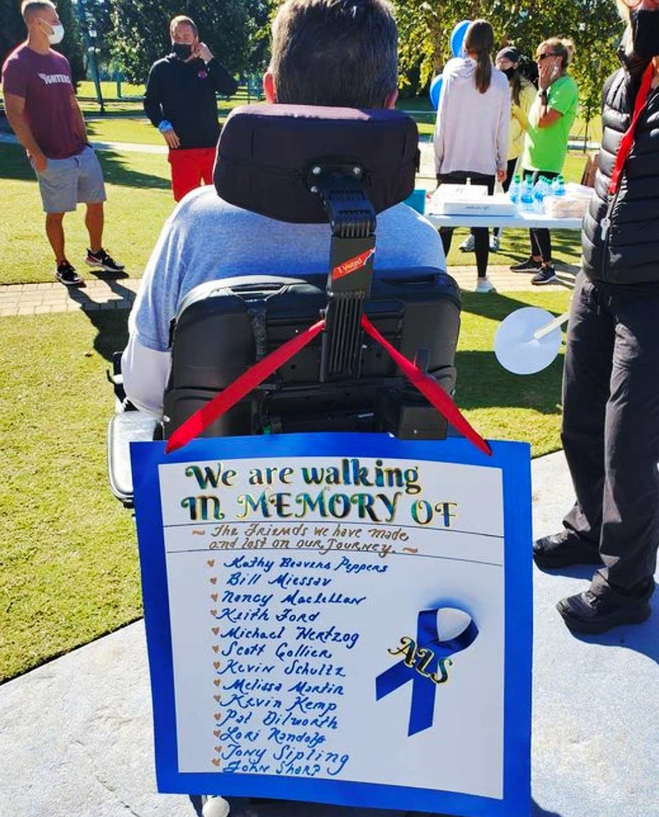 sign remembering those with ALS
