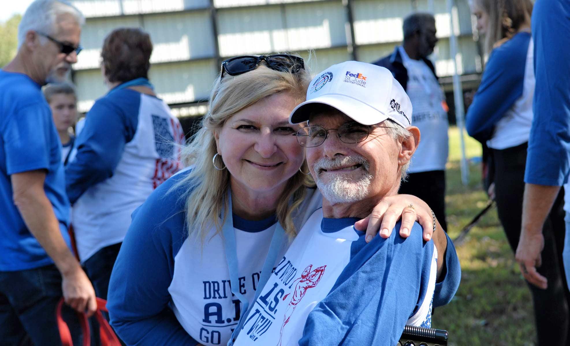 ALS walk participants