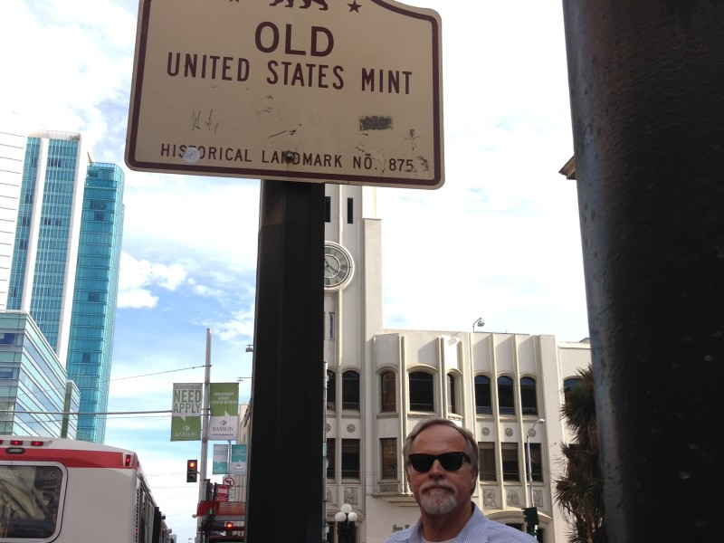 NO. 875 OLD UNITED STATES MINT – Street Sign