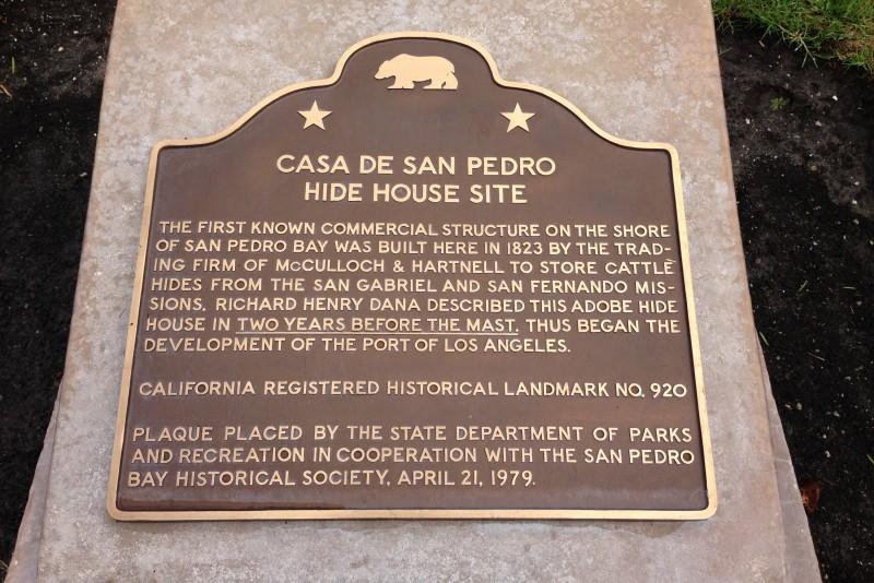 NO. 920 CASA DE SAN PEDRO - State Plaque