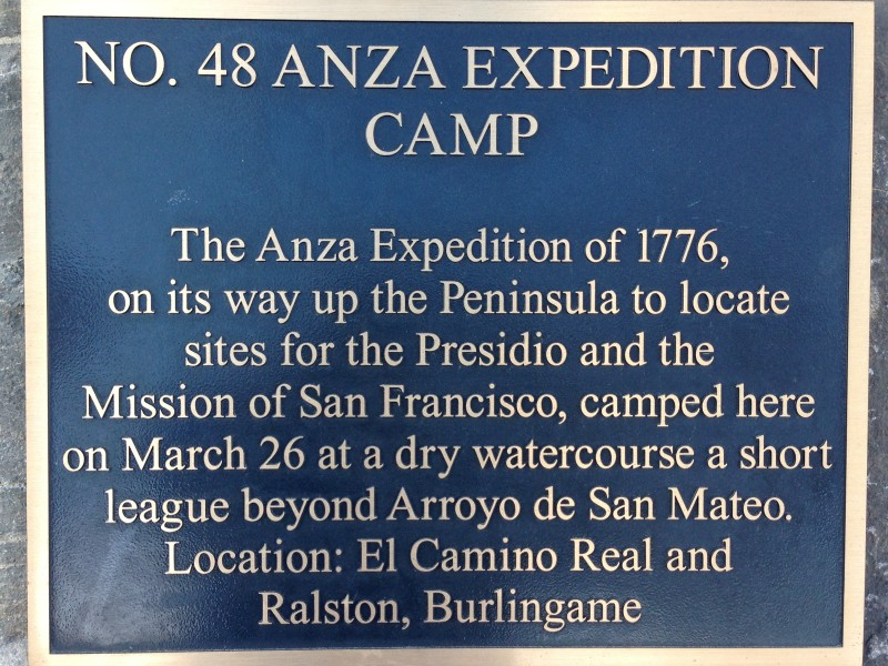 NO. 48 ANZA EXPEDITION CAMP - Plaque