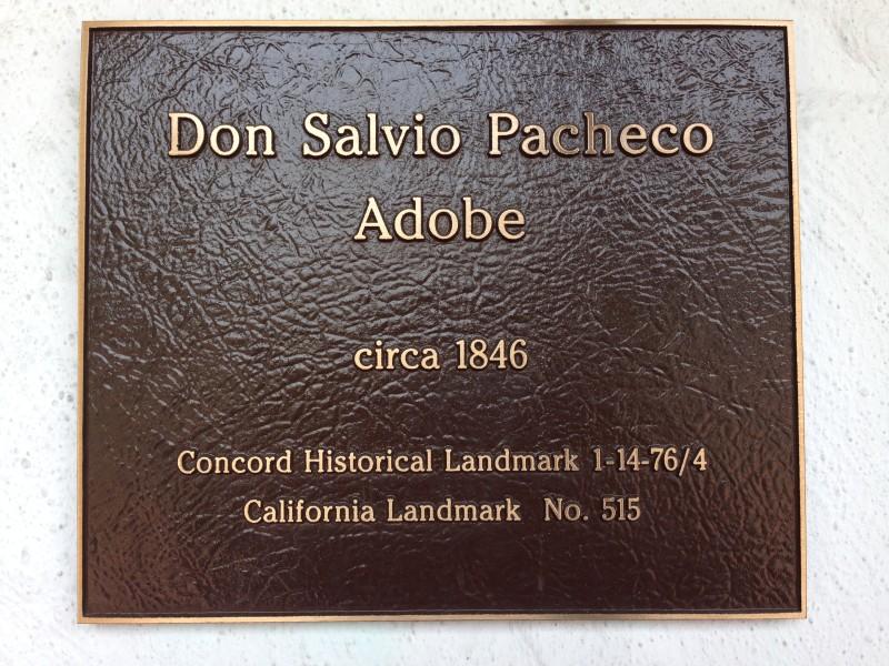 CHL #515 Pacheco (Don Salvio) Adobe- Private Plaque
