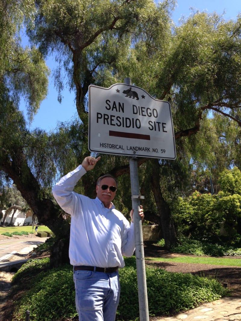CHL #59 - San Diego Presidio Site Street Sign