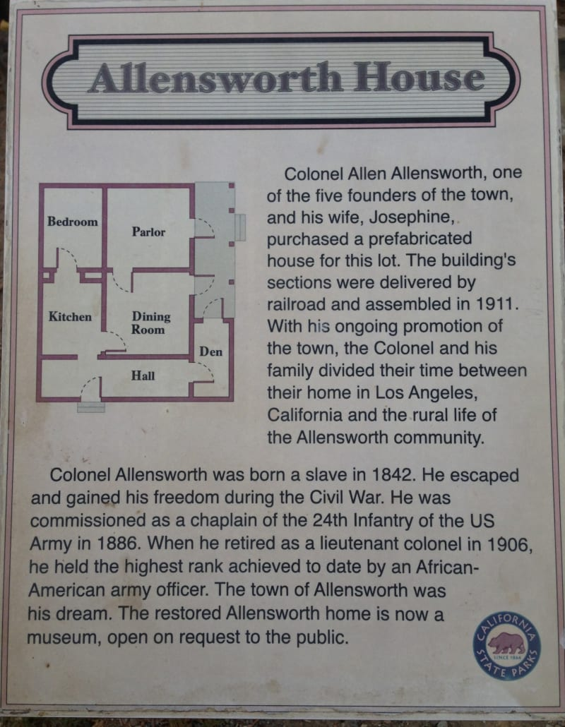 CHL #1047  Allensworth  (Allensworth Family House Floorplan)