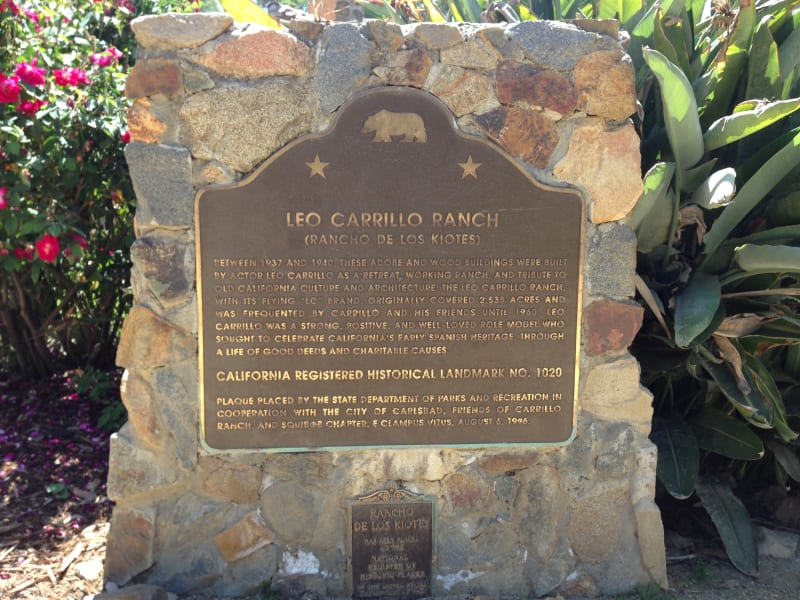 CHL #1020 Carrillo Ranch - State Plaque
