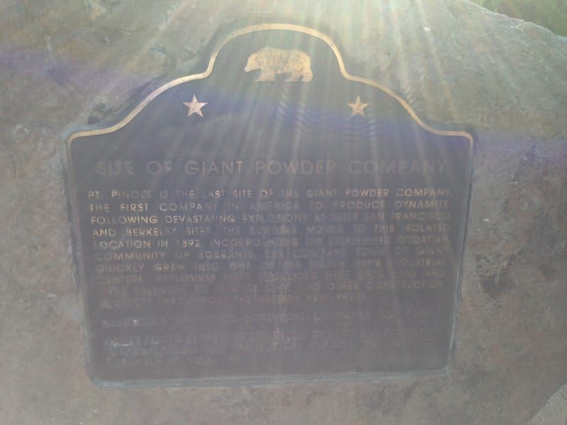 CHL #1002.1 Giant Powder Company Site - Richmond State Plaque