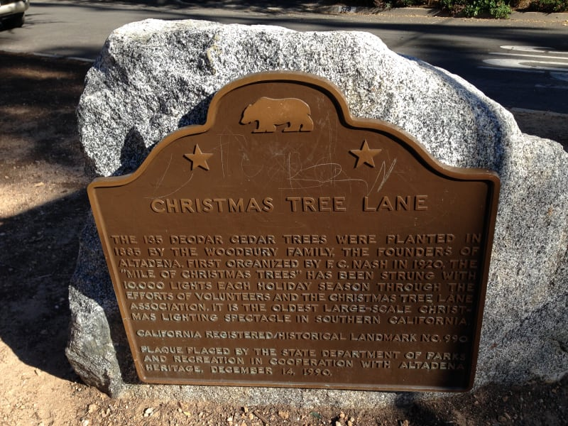 CHL #990 Christmas Tree Lane State Plaque