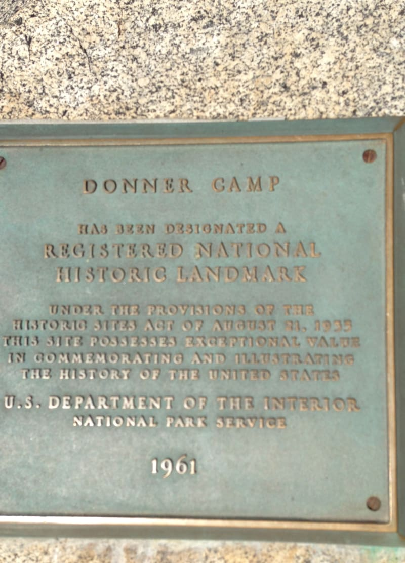 CHL #134 - Donner Party Memorial National Plaque